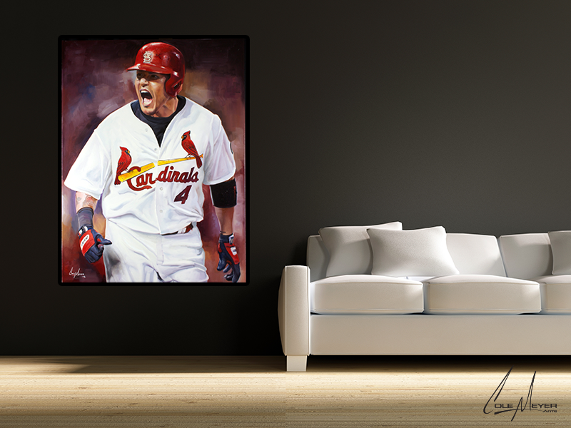 Yadier Molina Cole Meyer Arts - Yadier molina wall decals